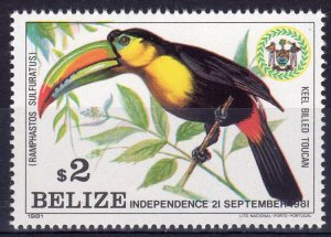 Belize 1981 Sc# 599 Keel-billed Toucan - Birds - Parrot - Single (1) MNH