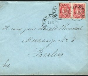 NORWAY Cover Stavanger 20 Ore Rate Lovely Clean Usage 1885 {samwells-covers}SS10
