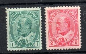 Canada KEVII 1903 1c & 2c mint LHM #174 #176 WS14150