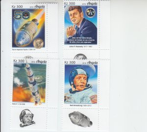 2019 Angola Moon Landing (4) (Scott NA) MNH
