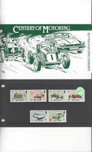 Isle of Man 284-6 Century of Motoring MNH Presentation Folder