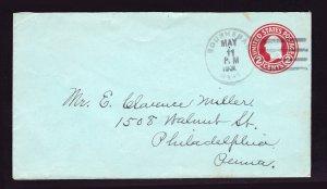 SCOTT #U432 POSTAL STATIONARY BOURNEDALE MA (CAPE COD DPO) 1931