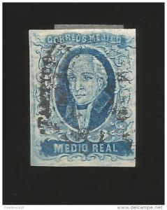 baja.G)1856 MEXICO, 1/2 REAL HIDALGO, TAMPICO, PLATE II