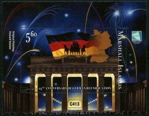 HERRICKSTAMP NEW ISSUES MARSHALL ISLAND Sc.# 1125 German Reunification S/S