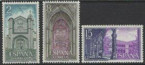 SPAIN SG2169/71 1972 MONASTERY OF ST.THOMAS, AVILA MNH