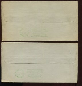 C18 Graf Zeppelin Century of Progress Used Stamps on 2 Matched Covers (907L)