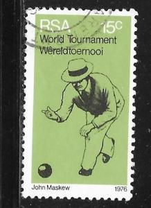 South Africa 456: 15c World Tournament Bowling, used, VF
