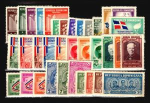 Dominican Republic 35 Mint (Most NH) 1960s / Few Faults - C1067