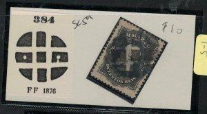 Brazil SC 59 Cork Cancel 384 FF 1876 VFU (1ehv)