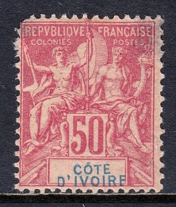 Ivory Coast - Scott #14 - MH - Spacefiller with thins - SCV $80