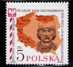 Poland Scott 2673 MNH** Map stamp