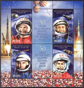 Moldova 2011 50th Anniversary of First Manned Space Flight S/S MNH**