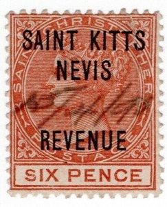 (I.B) St Kitts & Nevis Revenue : Duty 6d