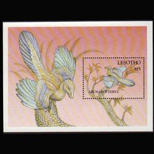 LESOTHO 1992 - Scott# 915 S/S Archaeopteryx NH