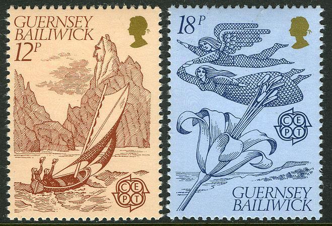 Guernsey MNH 222-3 Europa Folklore 1981