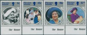 Pitcairn Islands 1985 SG268-271 Queen Mother set MNH