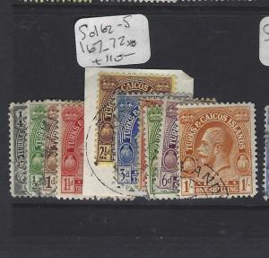 TURKS AND CAICOS  (PP2909B)  KGV  SG 162-5, 167-172   VFU