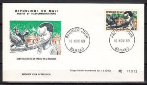 Mali, Scott cat. 129. Small Pox & Measles issue. First day cover.
