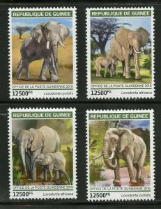 GUINEA 2019  ELEPHANTS SET OF FOUR STAMPS MINT NEVER HINGEDD