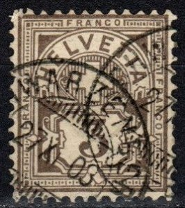 Switzerland #70 F-VF Used CV $16.00  (X1418)