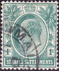MALAYA STRAITS SETTLEMENTS 1903 KEDV11 1 Cents Grey-Green SG123 FU
