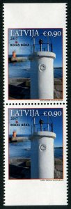 HERRICKSTAMP NEW ISSUES LATVIA Sc.# 971a Lighthouse 2017 Rojas Baka Booklet