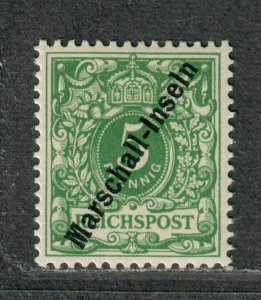 German Poss Marshall Islands Sc#2 M/NH/EF, Signed, Cv. $325