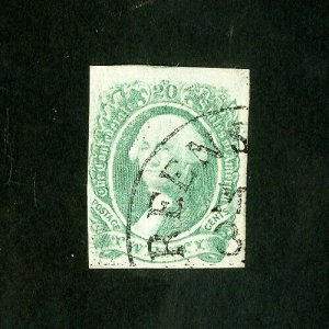 US Stamps # 13 VF Clear town cancel used