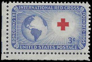 #1016 3c International Red Cross 1952 Mint NH