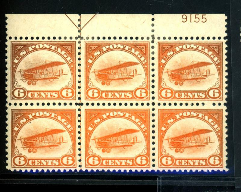 C1 MINT Plate Block F-VF OG 2 HR's Cat $700