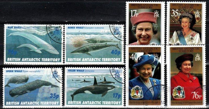 British Antarctic Territory #240-47  F-VF Used  CV $17.15 (S10845)