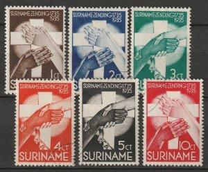 Suriname 1935 Sc B16-21 set CTO