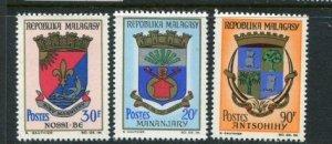 Malagasy Republic #288-90 Mint
