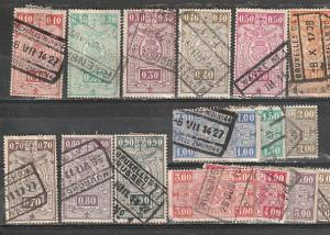 Belgium Used Parcel Post & Railway