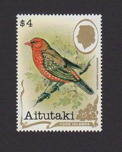 Aitutaki Cook Islands 246C VF MNH $4 Birds