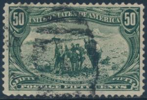 #291 VF+ USED 50¢ TRANS-MISS CV $175 BU297