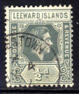 Leeward Islands 1949 KGV1 1/2d Slate Grey SG 97 used ( C450 )