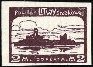 CENTRAL LITHUANIA / MITTELLITAUEN - 1921 Mi.P.3.B 2M Mint* - ref.916k