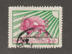 Persian stamp, Scott# RA-1, Postal Tax stamp, used, hinged, #L--28