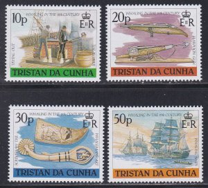 Tristan da Cunha # 434-437, 19th Century Whaling, NH, 1/2 Cat.