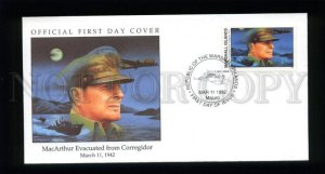 162535 MARSHALL ISLANDS 1992 War MacArthur Evacuated FDC cover