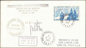 French Southern & Antarctic Territory #214, Antarctic Cachet and/or Cancel