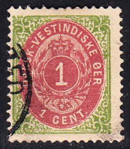 DANISH West Indies # 5e Used