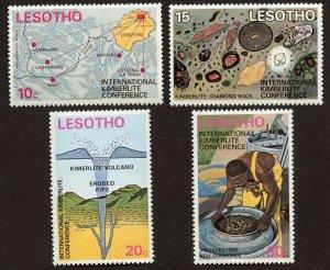 Lesotho Sc# 147 - 50, MNH.  Kimberlite Conference - Diamonds. 2019 SCV $10.00