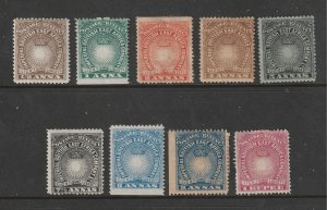 British East Africa x 9 earlies from 1890 8 MH 1 U