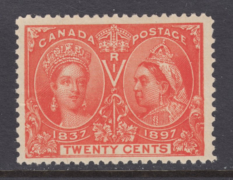 Canada Sc 59 MLH. 1897 20c vermilion Victoria Jubilee, fresh, well centered.