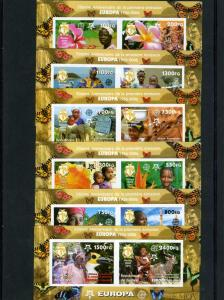 Guinea 2006  Mi#880B/885B Europa CEPT-BUTTERFLIES 6 S/S IMPERFORATED MNH VF