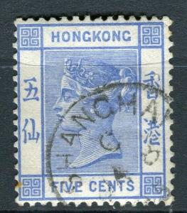 HONG KONG; Shanghai Treaty Port Cancel on QV 5c. value,