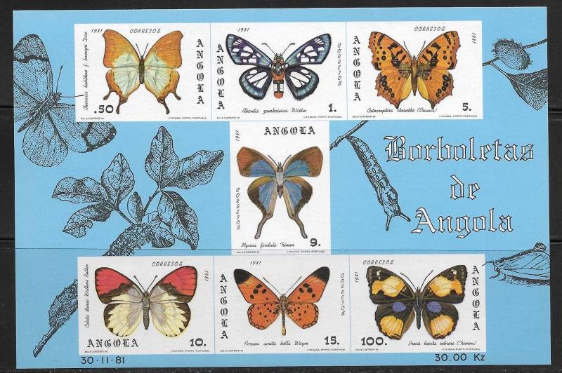 Angola 653a Butterflies Mint NH