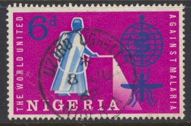 Nigeria  SG 117 Used 1962 Malaria Education  please see scan
